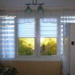 Тканевые ролеты (рулонные шторы) День-Ночь (Зебра) на кухне